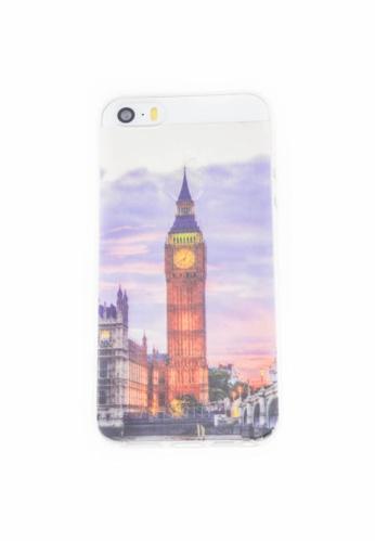 Fancy Cellphone Cases multi Big Ben Soft Transparent Case for iPhone 5/5s/SE FA644AC72RZNPH_1