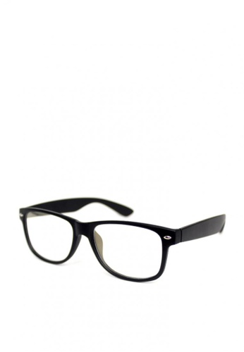 Peculiar and Odd black Peculiar Square 8081 Anti Radiation Replaceable Lens Eyeglass BF66AGL0E9E236GS_1