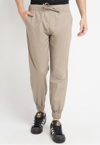 Malibu brown Jogger woven long pants MA962AA0WE5MID_1