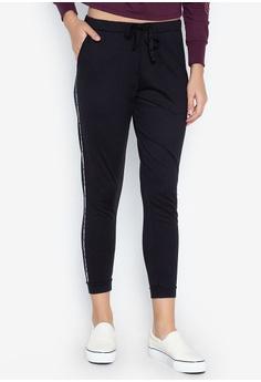 52a0e68b2e OXYGEN black Mid Waist Track Pants With Drawstring 1869DAA147AEC3GS_1