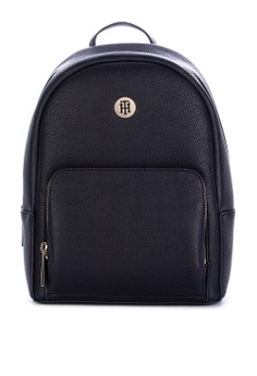 a62719c17 Tommy Hilfiger black Th Core Solid Tone Faux Leather Backpack  3359EACA0FEAF4GS_1