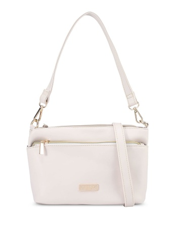 Unisa beige Faux Leather Convertible Top Handle Bag EB459AC04FFB9AGS_1
