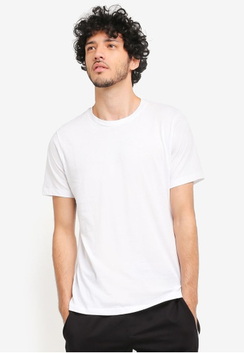 MANGO Man white Essential Cotton T-Shirt MA449AA0T1EXMY_1