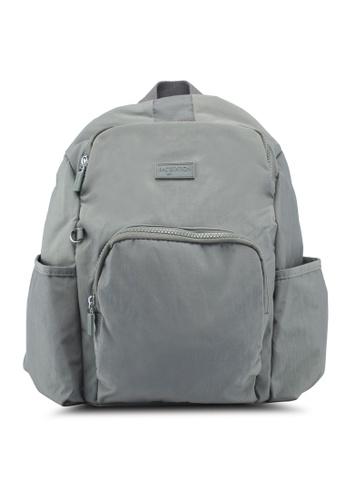 Bagstationz grey Crinkled Nylon Backpack 87C20ACC372785GS_1