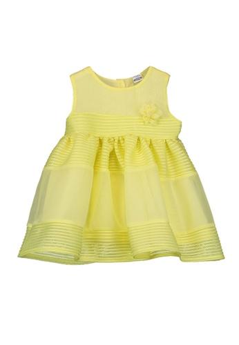 LC Waikiki yellow Mesh Sleeveless Dress BD751KA2FF32EEGS_1