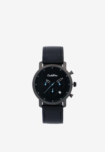Carlo Rino black Black Upsized Every Second Counts Timepiece 25D89AC71BB4C3GS_1