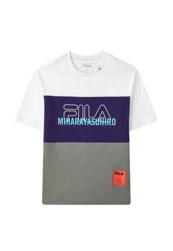 FILA white FILA x Maison MIHARA YASUHIRO Color Blocks Logo Cotton T-shirt 09FABAA0A4B99FGS_1