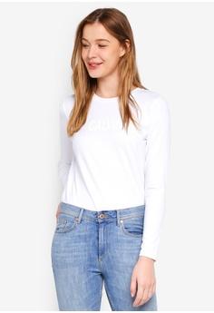 caa8c5c59c3 Calvin Klein white Long Sleeve New Fa Straight Tee - Calvin Klein Jeans  D5E53AA3496ED5GS 1