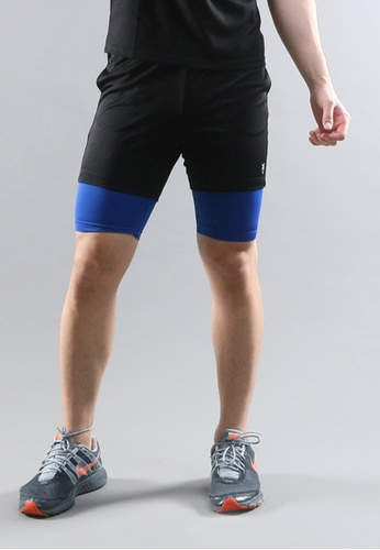 AMNIG black and blue Amnig Men Training Pants W/inner AM133AA00JQDMY_1