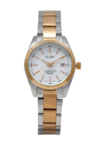 Alba gold and silver ALBA Jam Tangan Wanita - Silver Rosegold - Stainless Steel - AH7A32 C798FACC7C3512GS_1
