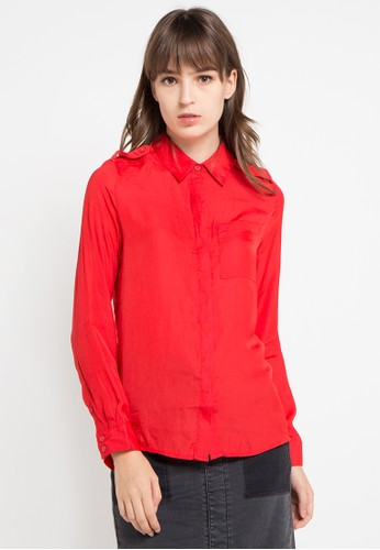 Logo Jeans red Drizzled Shirt LO418AA0VT9OID_1