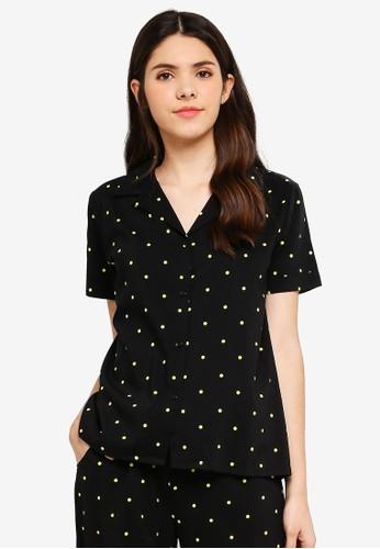 Supre black and multi Cotton Sleep Shirt 424EBAA920B09AGS_1