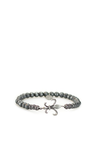 Gnome and Bow grey and green and brown Fluer-de-lis Bracelet 416A3AC9ADF923GS_1