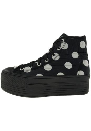 Maxstar 黑色 新款韩国鞋C50-7H-Dot時尚帆布布混合女黑色 US Women Size MA345SH14GWNTW_1