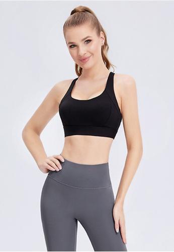 Trendyshop black Quick-Drying Yoga Fitness Sports Bras 49C5EUS1BAECBAGS_1