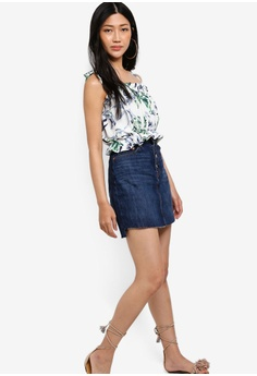 6dfff55587d 23% OFF Something Borrowed Printed Smocked Crop Top S  30.90 NOW S  23.90  Sizes M L XL