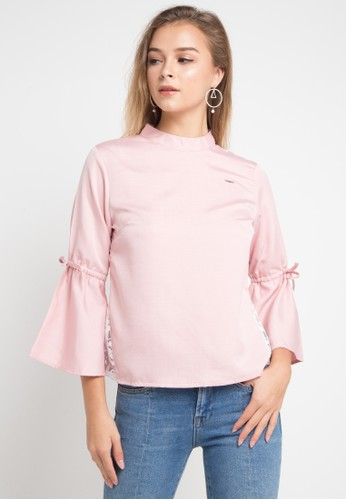 Lavabra pink Cotton Blouse with Embroidery Details 13710AA0131700GS_1