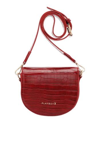 PLAYBOY BUNNY red Women's Sling Bag / Shoulder Bag / Crossbody Bag 256BCACDEB8A2CGS_1