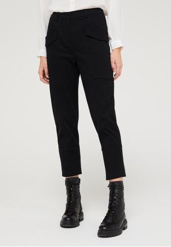 Sisley black Trousers with Pockets 66230AA3982E96GS_1