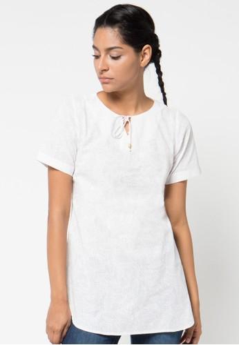 LOIS JEANS white Short Sleeve Blouse LO391AA40UVBID_1