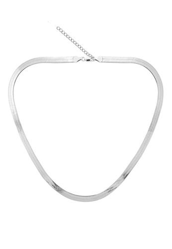 YOUNIQ silver YOUNIQ-Basic Korean Smooth Flat Necklace (Silver) YO999AC28MBNMY_1