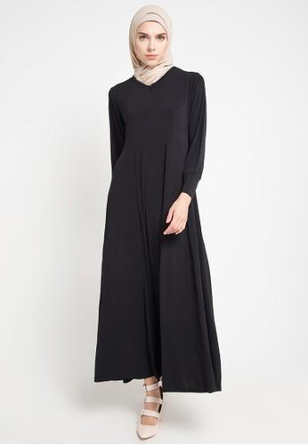 JV Hasanah black Delisha Breastfeeding Dress Big Size JV519AA0VV3EID_1