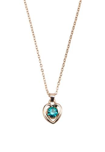 Carol 寶石心形吊飾esprit官網項鍊, 飾品配件, 項鍊