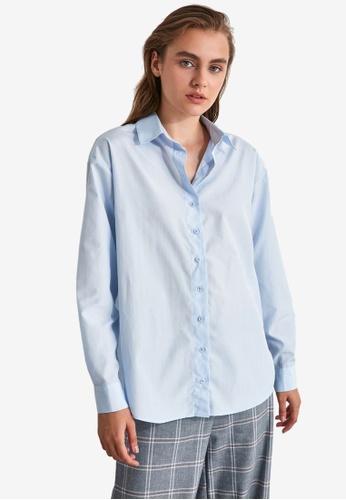 Trendyol blue Loose Fit Shirt 7156DAA2F556E6GS_1