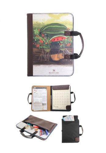 Jacinto and Lirio brown and red and green Alamat Vision Board Monthly Vegan Leather Desk Planner - Alamat ng Pakwan A7F4BHL72ACD66GS_1