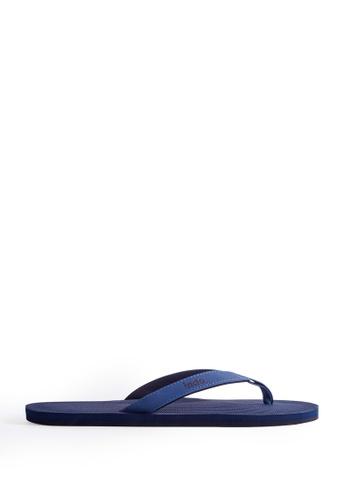 Indosole blue Indosole Men's ESSNTLS Flip Flops - Shore 641FFSH76E1074GS_1