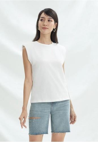 Pomelo white Sustainable Cotton Sleeveless Tank - White CA4ADAAEEEEA19GS_1