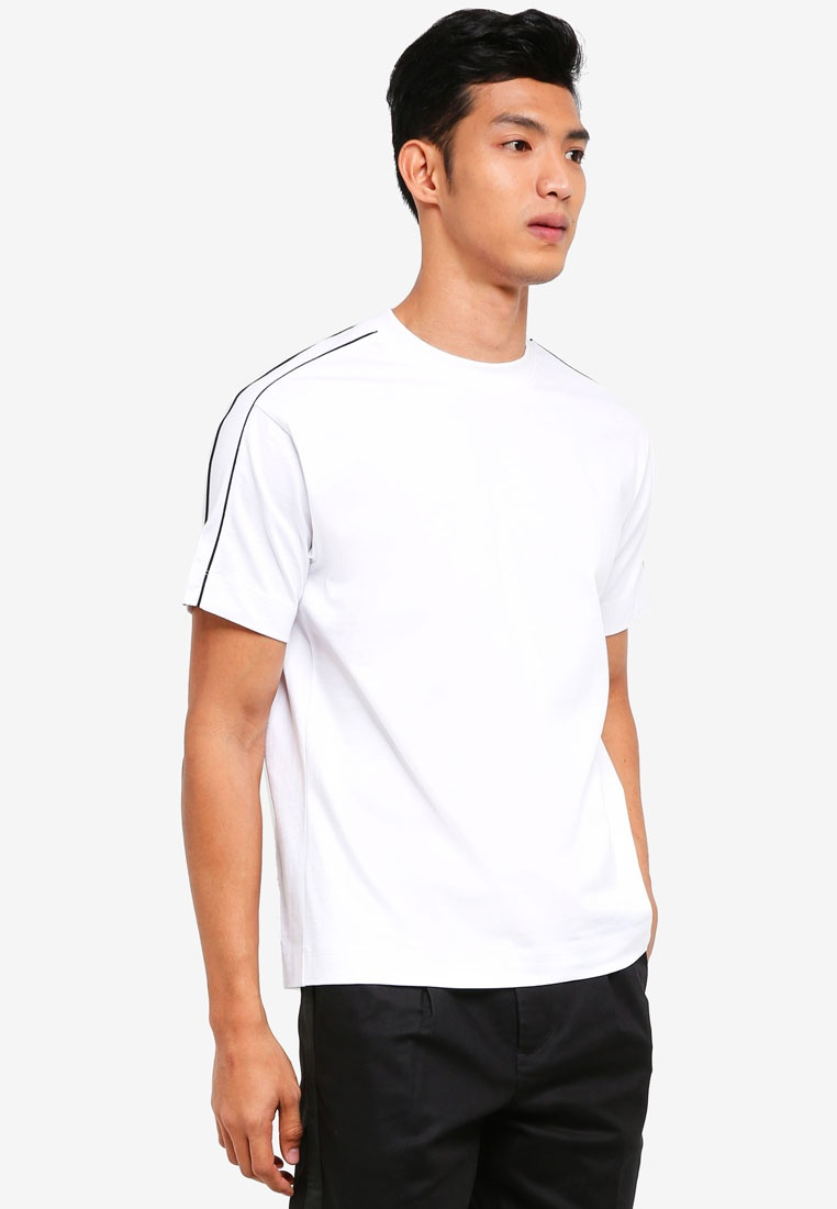 AT white Heavy Tee Stitch TWENTY Contrast q0zPxt
