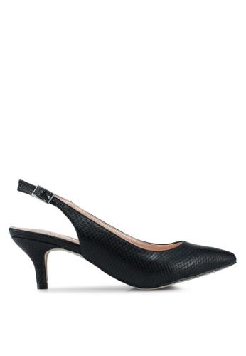 Carlton London black Sling Back Heels 61A2FSH7FBFBC0GS_1