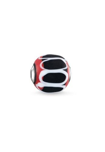 "THOMAS SABO silver Bead ""Glass Bead Black, red, white"" FB864ACF44D2C7GS_1"