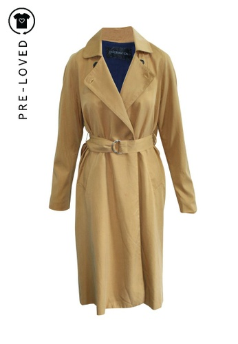 Reformation brown Pre-Loved reformation Camel Trench Coat 46986AAA77FA8DGS_1