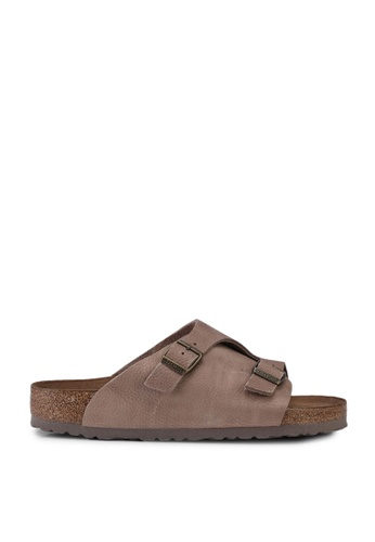 Birkenstock brown Zurich Nubuck Steer Sandals 4B996SH82589B1GS_1