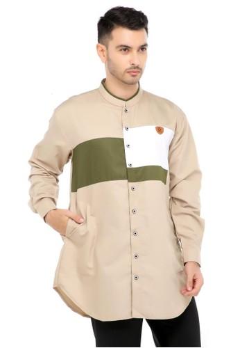 ZAYIDAN brown Baju Koko Gamis Muslim Pria Adnan - Coklat 86286AAB17649CGS_1