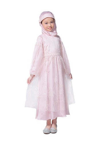 Pretty Girl Collection pink Cemara Dusty Pink Muslim Dress F09BAKA893F029GS_1