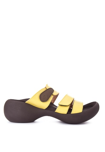 RegettaCanoe yellow Pansy Sandals RE095SH0K3D6PH_1