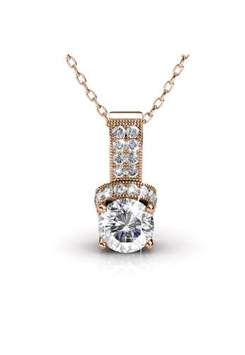 Her Jewellery gold Swarovski® Crystals - Eve Pendant (Rose Gold) (18K Rose Gold Plated) Her Jewellery HE581AC0RDRCMY_1
