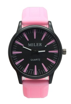 Miler Men's Silicone Strap Watch