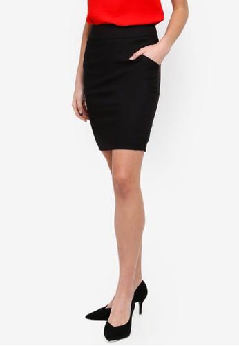 FORCAST black Sandy Pencil Skirt CB9DBAA911E908GS_1