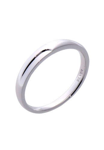 The LoveMark silver Simple Ring for Men lr0044m TH516AC60VBFPH_1
