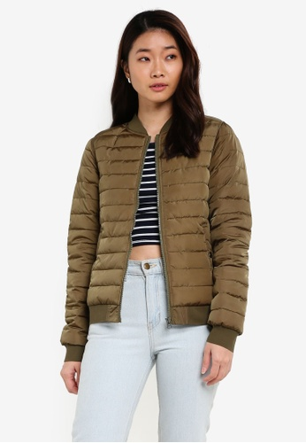 ZALORA green Soft Padded Jacket 0CD67ZZ82EC41DGS_1