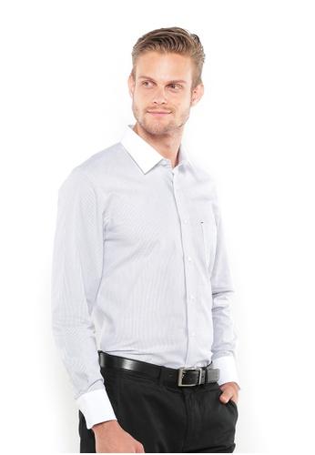 POLO HAUS multi Polo Haus - Woven Long Sleeve Shirt  (Black White) PO783AA77BDAMY_1