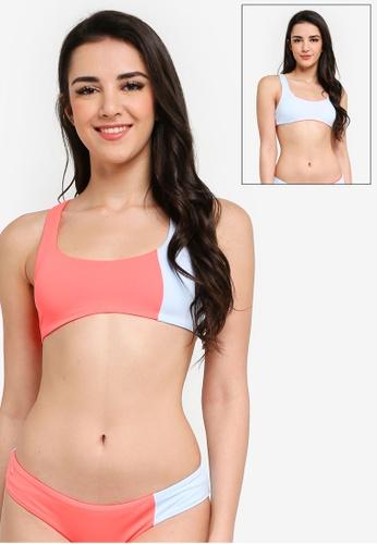 Maaji multi Mirrored Ring Sundeck Sporty Reversible Bikini Top D5B9AUSEDB2703GS_1