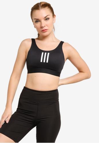 ADIDAS black don't rest medium-support 3-stripes bra 4CD67US8E47531GS_1