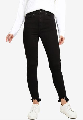 TOPSHOP black Black Jagged Hem Jamie Jeans 0CB28AA71572E7GS_1