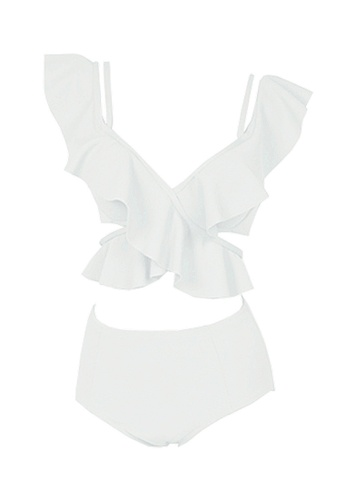 Twenty Eight Shoes white VANSA Sexy Ruffle Bikini Swimsuit VCW-Sw1915 62BE8USBC892C6GS_1