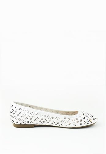 London Rag white White Ballerina Shoes 2455DSH520C4A7GS_1